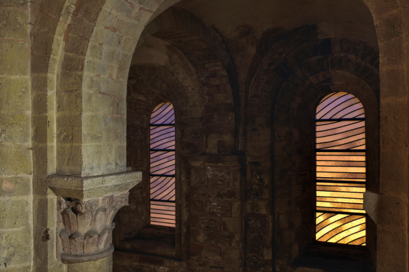 Stained-glass windows by Pierre Soulages