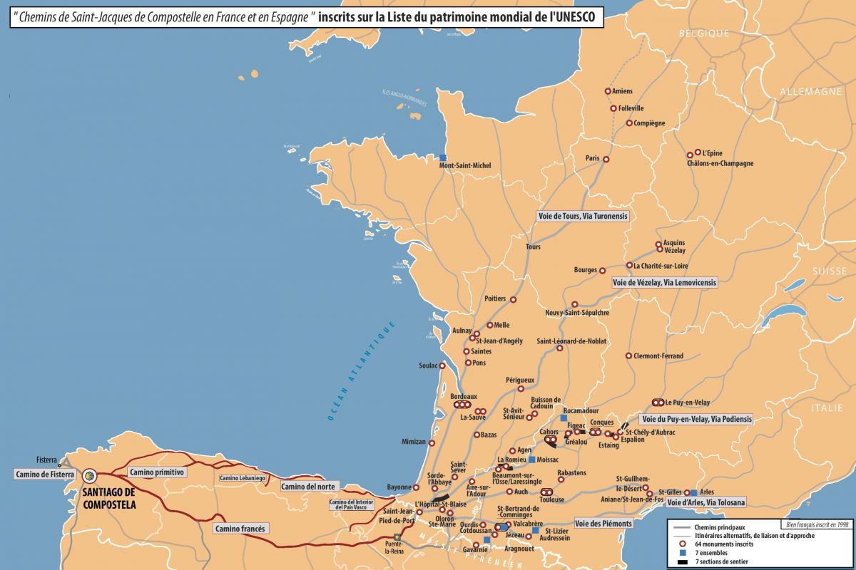 Carte Bordeaux Unesco.Conques Route To Compostela Home Page Office De Tourisme