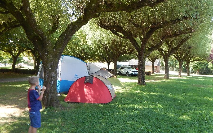 camping municipal tente